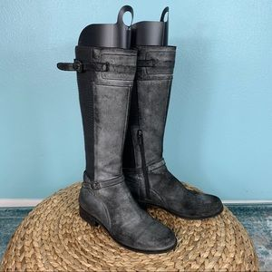Aetrex Chelsea 7.5 Distressed Suede Tall Boots